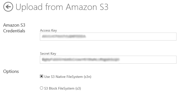 Connecting Hadoop on Azure to your Amazon S3 Blob storage