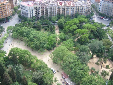 View from the top of Sagrada Familia