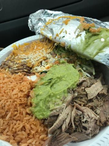 Carnitas Plate from Juanita's Taco Shop